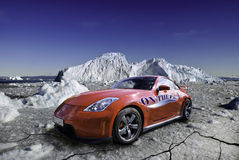 Nissan 350z on Ice Royalty Free Stock Image