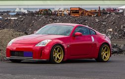 Nissan 350Z. Image of a 2005 Nissan 350Z at drag racing event in Iceland Stock Photo