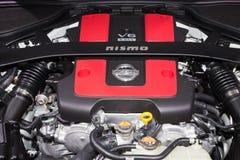 Nissan 370Z Nismo 3 7-liter DOHC V6 silnik Zdjęcia Stock