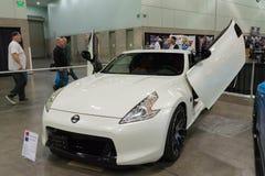 Nissan 350Z op vertoning Stock Afbeelding