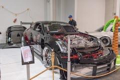 Nissan 350Z sur l'affichage Photographie stock libre de droits