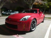 Nissan 350z. Taken in the crisp dark with street light illumination Royalty Free Stock Photos