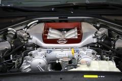Nissan zeigte an der 3. Ausgabe von MOTO-ZEIGUNG in Krakau an lizenzfreies stockbild