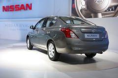 Nissan Zonnig op vertoning in AutoExpo 2012 Royalty-vrije Stock Foto