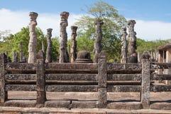 Nissanka Latha Mandapaya in Polonnaruwa, Sri Lanka Royalty Free Stock Images