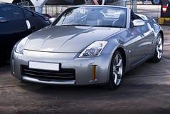 Nissans 350Z - Convertible argenté Photographie stock libre de droits