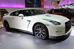 Nissans blanches gtr Photos stock