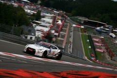 NISSANS GTR (la FIA GT, Spa24h) Photos libres de droits