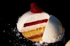 Nissehallonglass Är massovoekakan från enkräm, generovanihallon utan socker och grunden av Royaltyfria Bilder