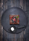 Nissen för chokladkaka Royaltyfri Foto