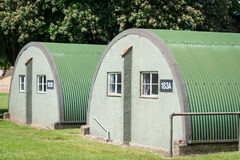 Nissen huts. British WW2 historical Nissen Huts Stock Photos