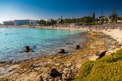 Nissi beach in Aiya Napa, Cyprus Stock Photos