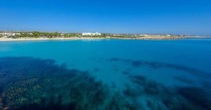 Nissi beach,ayia napa cyprus view 3 Royalty Free Stock Photos