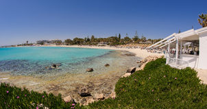 Nissi beach,ayia napa cyprus view 6 Royalty Free Stock Images