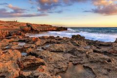 Nissi beach in Ayia Napa in stormy weather Stock Photography