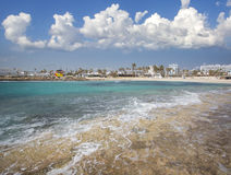 Nissi beach  on Cyprus Stock Photo