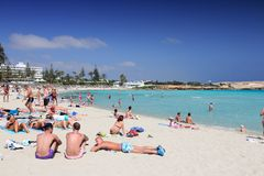 Nissi Beach, Cyprus Stock Image