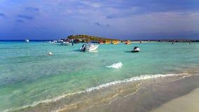 Nissi beach evening Royalty Free Stock Photos