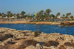Nissi plaża agia cibory napa Zdjęcie Royalty Free