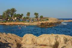 Nissi plaża agia cibory napa Zdjęcia Stock
