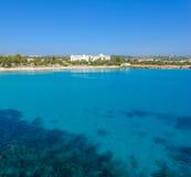 Nissi-Strand, Agia Napa Zypern Ansicht 1 Stockbild