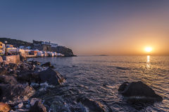 Nissiros sunset Royalty Free Stock Images