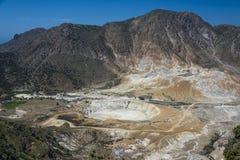 Nissiros-Vulkan stockbild