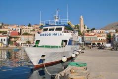 Nissos Halki ferry, Halki island Royalty Free Stock Photo
