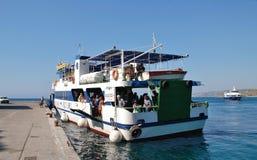 Nissos Halki ferry, Rhodes stock photography