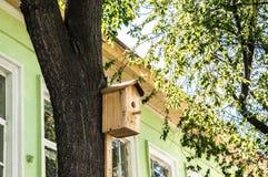 Nistkasten auf einem Baum Stockbilder