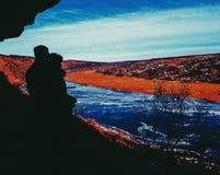 Nistru moldova do lago do amor dos pares Fotografia de Stock