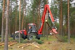 Nisula N5 Harvester at Work Demo Royalty Free Stock Photos