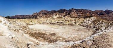 Nisyros Actieve vulkaan Stock Afbeeldingen