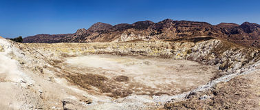 Nisyros aktiv vulkan Arkivbilder