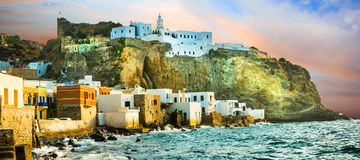 Free Nisyros Dodecanese Sunset Over Mandrakia,Greece. Stock Photo - 121772920