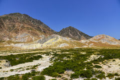Nisyros volcanic island landscape Stock Photography