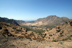 Nisyros volcanic valley, Greece Stock Photography