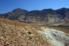 Nisyros volcanic valley, Greece Stock Image