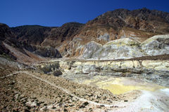 Nisyros volcanic valley, Greece Royalty Free Stock Photos