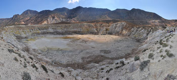 Nisyros volcano, the crater of St. Stephen Stock Photos