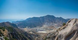 Nisyros Volcano Panorama Greece Stock Afbeeldingen