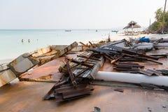 Niszczący po tsunami na wyspie w Andaman morzu Fotografia Stock