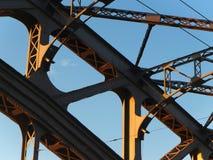 Nit stalowe budowy xix wiek most zdjęcie stock