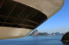 MAC - Museum of Contemporary Art of Niterói. Niterói, Brazil, September 26, 2009. MAC - Museum of Contemporary Art of Niterói in the state of Rio de Janeiro stock image