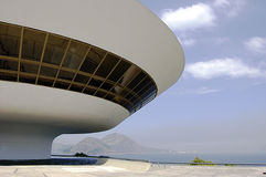 Niterói Contemporary Art Museum (MAC). One of the most spectacular art museums in the world, the MAC (Museu de Arte Contemporanea) has put Niteroi on the Stock Image
