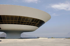 Niterói Contemporary Art Museum (MAC). One of the most spectacular art museums in the world, the MAC (Museu de Arte Contemporanea) has put Niteroi on the Stock Photography