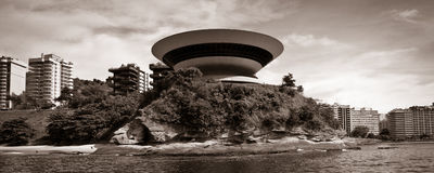Niteroi art museum Royalty Free Stock Image