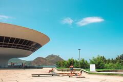 NITEROI, BRAZIL - Jan 25, 2020: Contemporary Nuseum of Art Niteroi