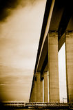Niteroi Bridge in Brazil. Niteroi bdige and details of support columns in Gunabara Bay, Rio de Janeiro Stock Images