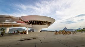 Niteroi Contemporary Art Museum - MAC - Niteroi, Rio de Janeiro, Brazil stock image